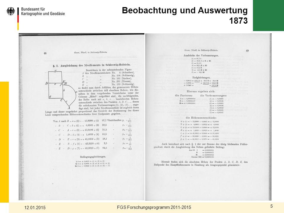 5 Beobachtung und Auswertung 1873 FGS Forschungsprogramm 2011-2015 12.01.2015