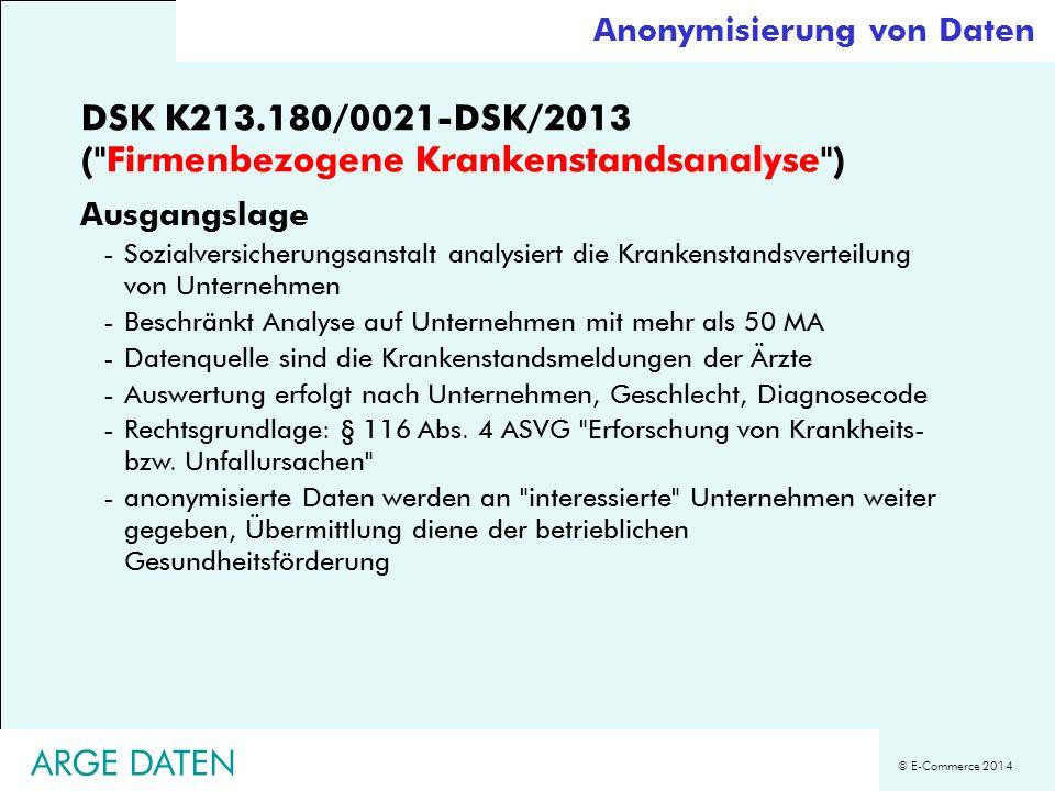 © E-Commerce 2014 DSK K213.180/0021-DSK/2013 (