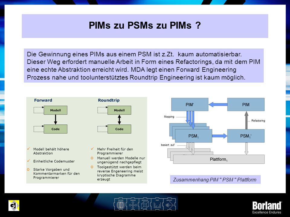 PIMs zu PSMs zu PIMs ? Zusammenhang PIM