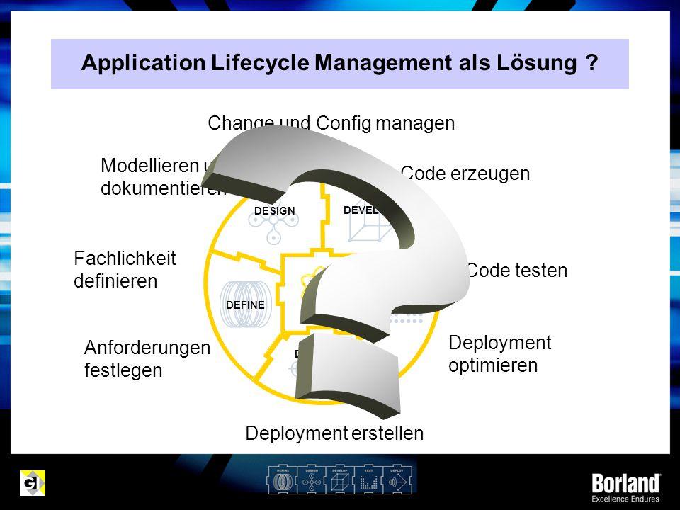 MDA Prinzip PIMPSMCode Integration der Plattformspezifika -Technologie (Betriebssystem, Programmiersprache, Middleware, RDBMS, etc.) -Parametersets steuern Generierung von PSM aus PIM