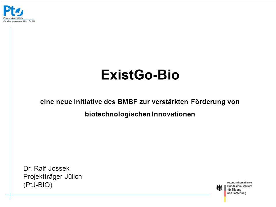 Grundlagen- forschung Angewandte Forschung Experimentelle Entwicklung Produkt- entwicklung Markt DFG VC ExistGo-Bio
