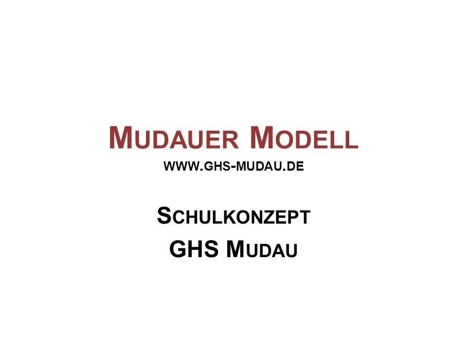 M UDAUER M ODELL WWW. GHS - MUDAU. DE S CHULKONZEPT GHS M UDAU