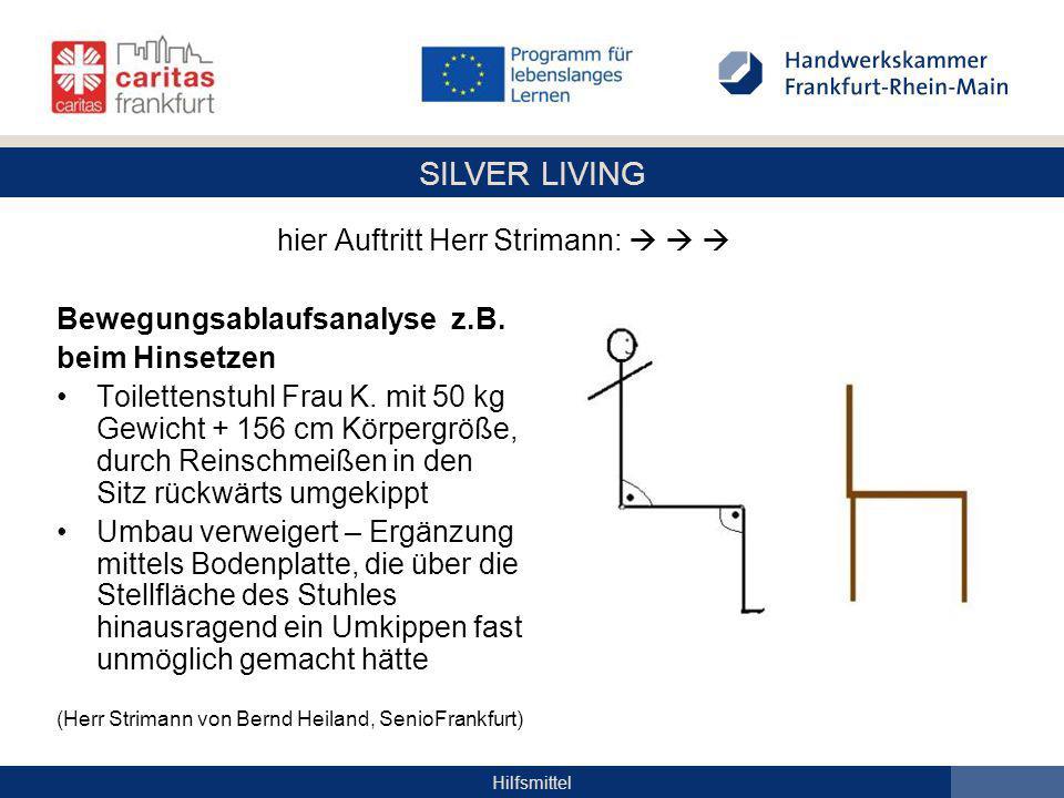 SILVER LIVING Hilfsmittel Bewegungsablaufsanalyse z.B.