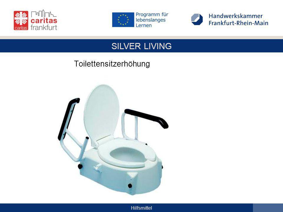 SILVER LIVING Hilfsmittel Toilettensitzerhöhung