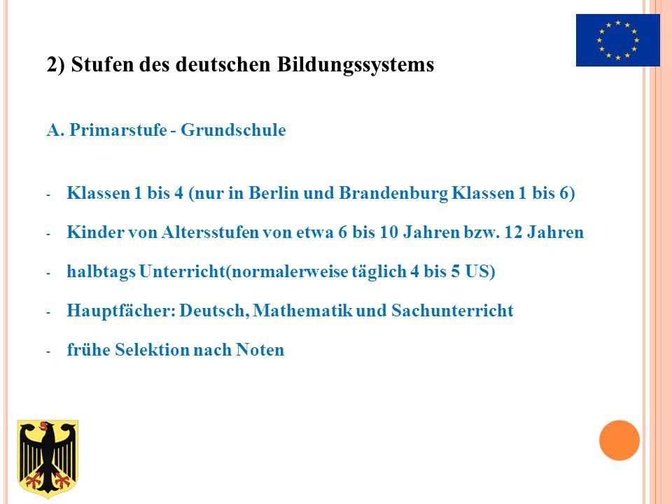 A. Primarstufe - Grundschule - Klassen 1 bis 4 (nur in Berlin und Brandenburg Klassen 1 bis 6) - Kinder von Altersstufen von etwa 6 bis 10 Jahren bzw.