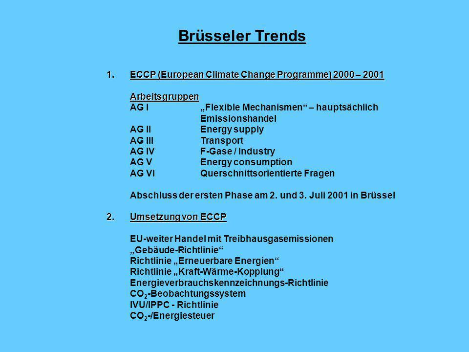 Lastenteilung zwischen den EU - Mitgliedsstaaten EU - Mitgliedsstaat Minderungs- beitrag Entwicklung der THG-Emissionen 1990 bis 1999 Differenz Kyoto-