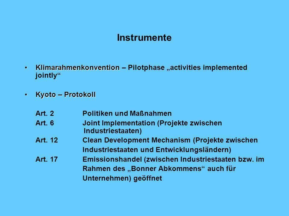 Ziele Vertragspartei (Annex I Staat)Minderungsbeitrag Belgien, Bulgarien, Dänemark, Deutschland, Estland, Europäische Union, Finnland, Frankreich, Gri