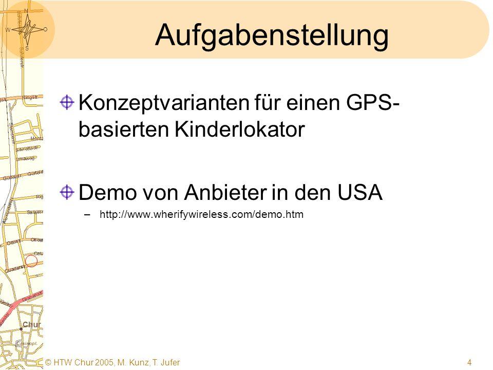 S O W N © HTW Chur 2005, M. Kunz, T. Jufer3 Weg zum Ziel Aufgabenstellung Situationsanalyse Zielformulierung Lösungssuche Auswahl