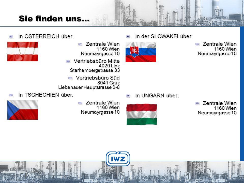 IWZ Industriebedarf Wilhelm Zastera GmbH Neumayrgasse 10 1160 Wien Tel.: +43 1 493 17 17 – 0 FAX: +43 1 493 17 17 – 31 http://www.iwz.atemail:office@iwz.at Kontakt