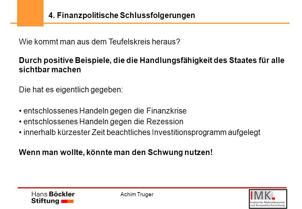 Achim Truger Wie kommt man aus dem Teufelskreis heraus.