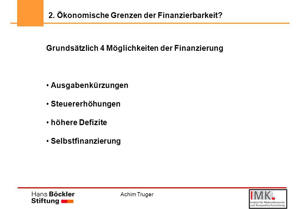 """Achim Truger Höhere Investitionen = Kürzungen bei den """"konsumtiven Ausgaben."""