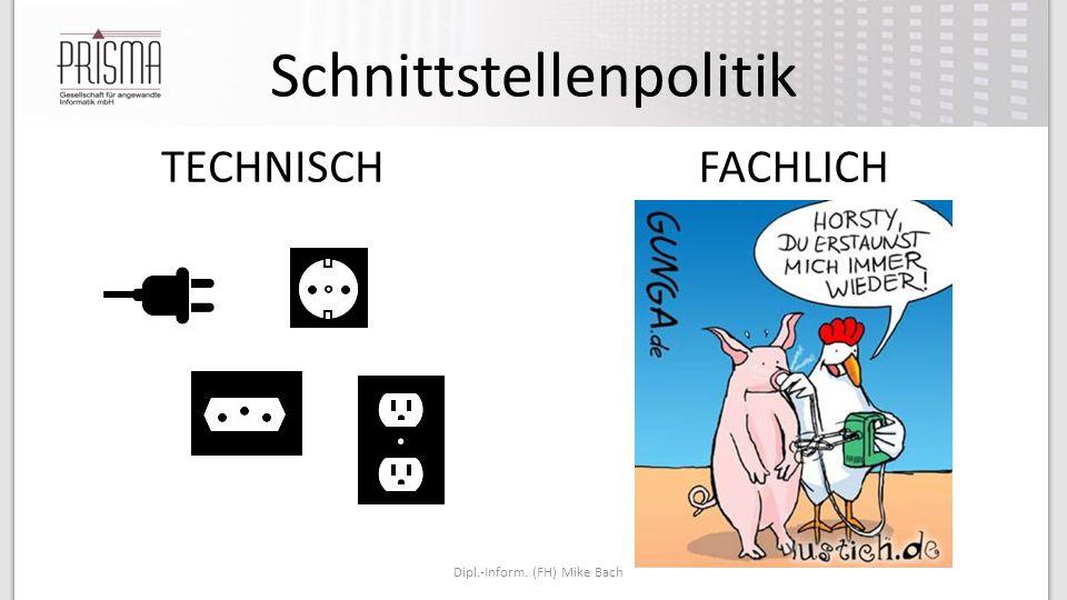 Schnittstellenpolitik Dipl.-Inform. (FH) Mike Bach TECHNISCHFACHLICH