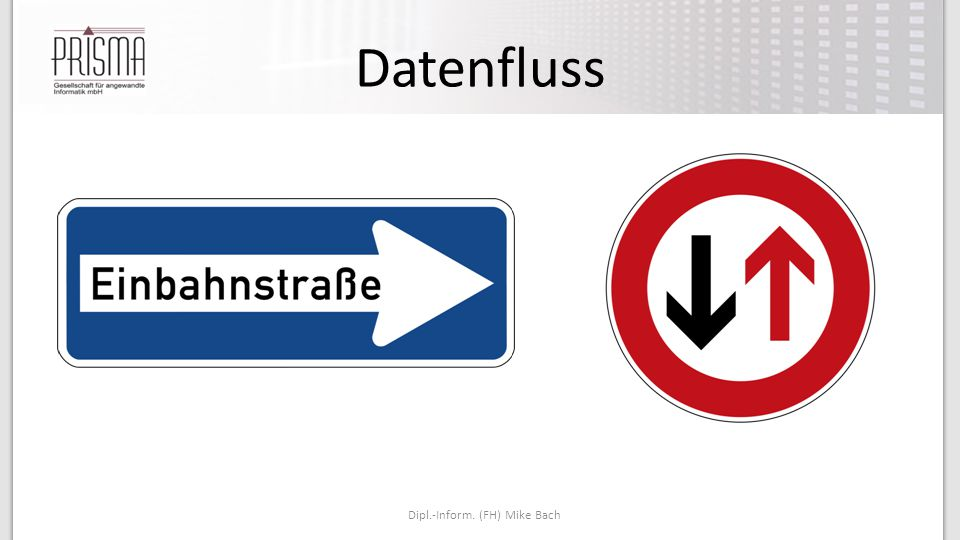 Datenfluss Dipl.-Inform. (FH) Mike Bach