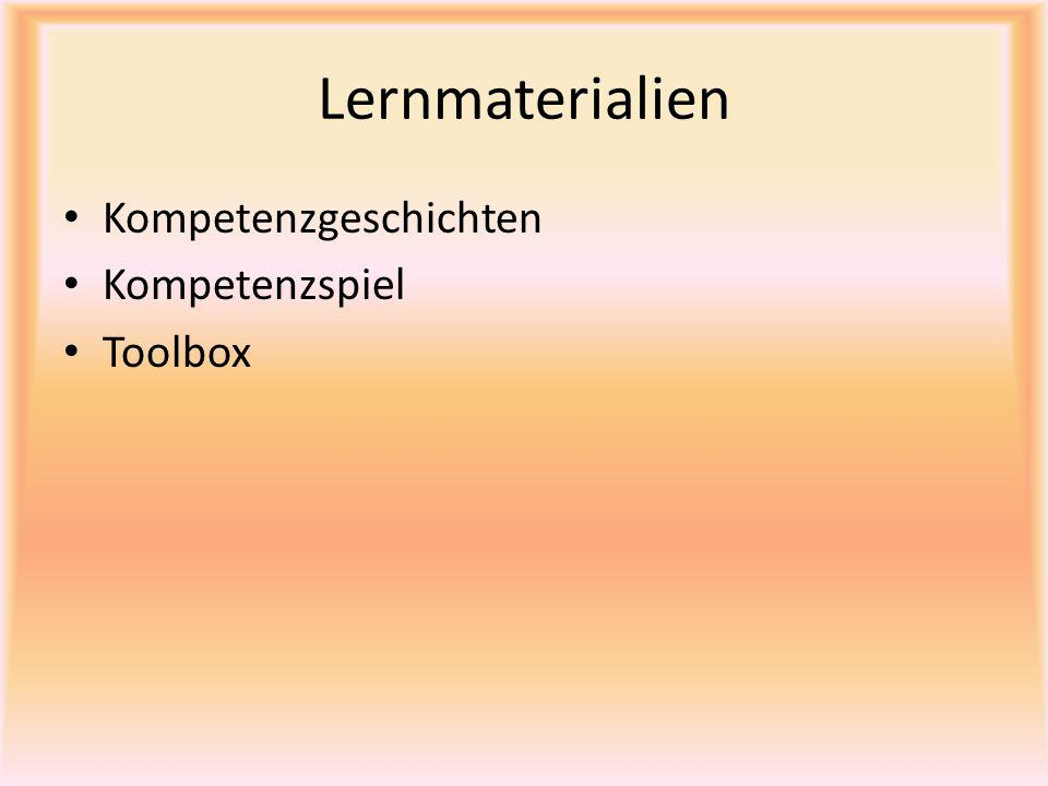 Lernmaterialien Kompetenzgeschichten Kompetenzspiel Toolbox