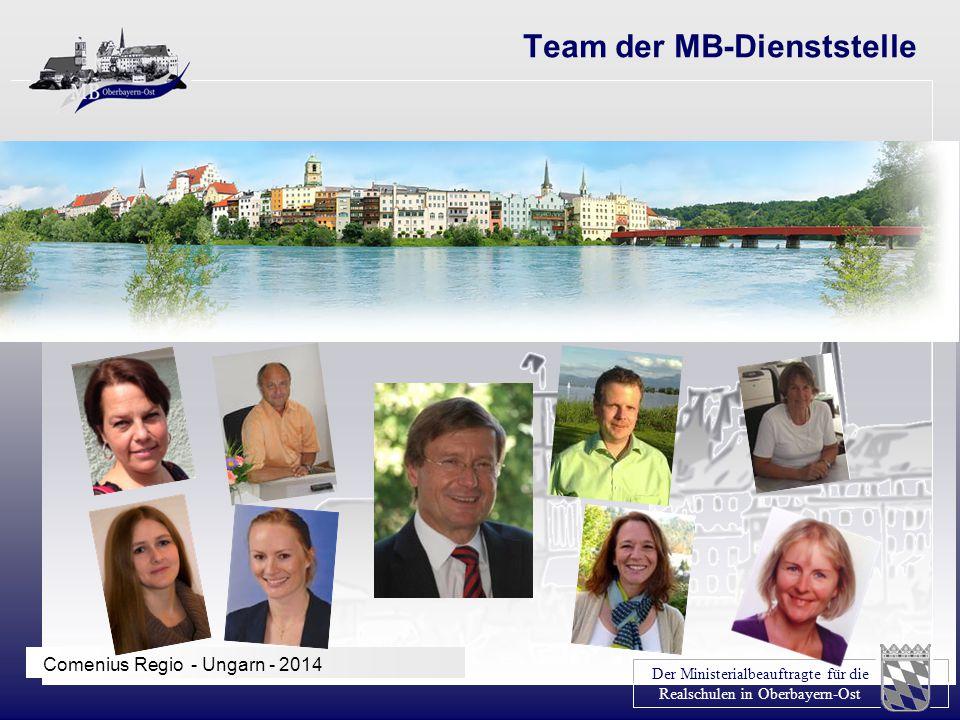 Der Ministerialbeauftragte für die Realschulen in Oberbayern-Ost Comenius Regio - Ungarn - 2014 Team der MB-Dienststelle