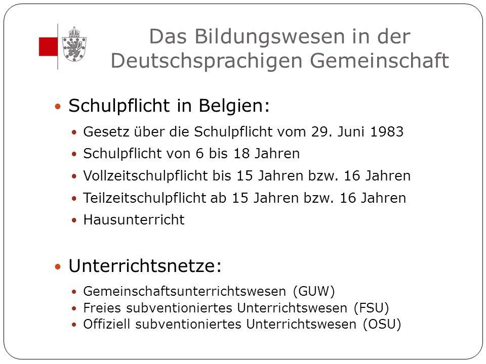 Das Unterrichtswesen in der DG Kindergarten Primarschule 2.