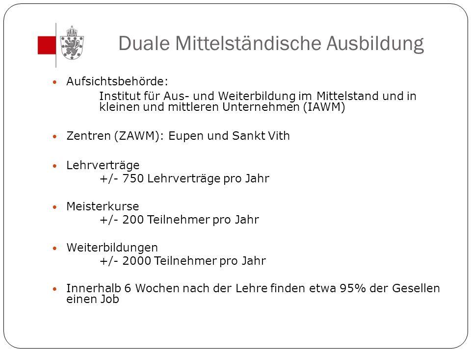 Duale Mittelständische Ausbildung Aufsichtsbehörde: Institut für Aus- und Weiterbildung im Mittelstand und in kleinen und mittleren Unternehmen (IAWM)