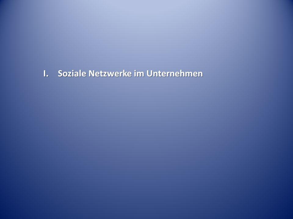 I. Soziale Netzwerke im Unternehmen