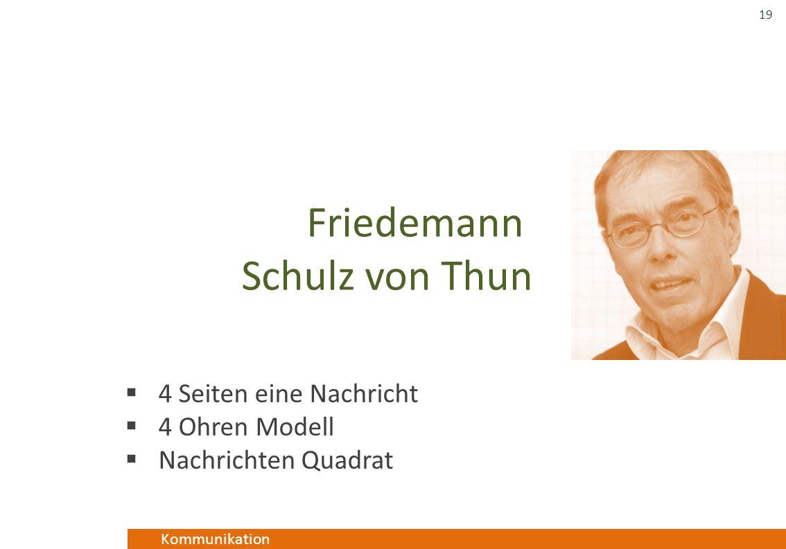 Kommunikation  4 Seiten eine Nachricht  4 Ohren Modell  Nachrichten Quadrat 19 Friedemann Schulz von Thun