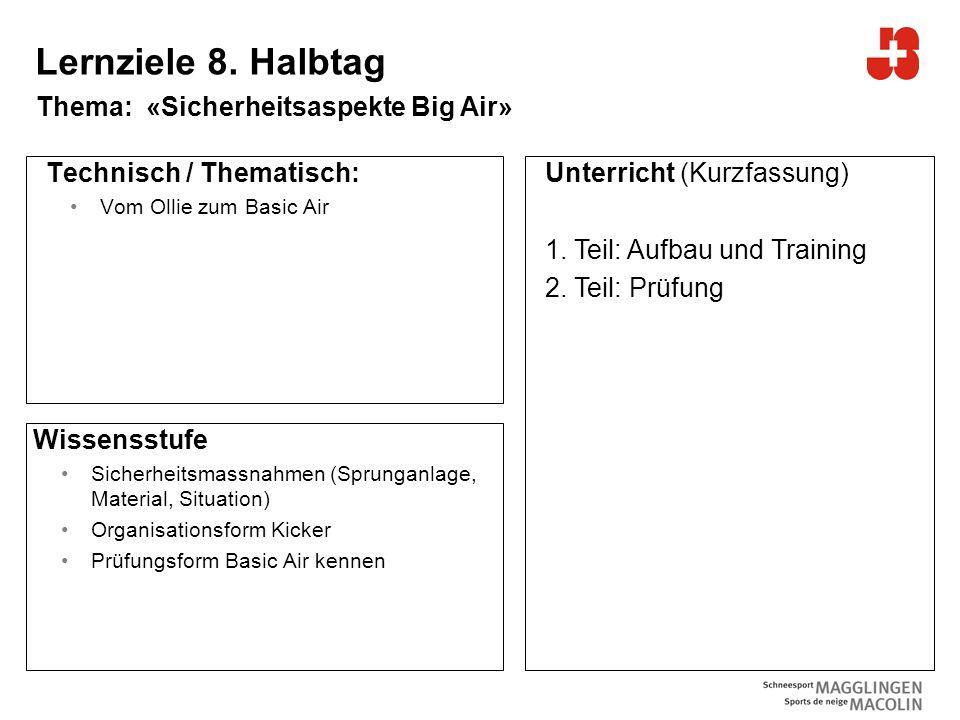 9 Bundesamt für Sport Jugend+Sport Lernziele 8.