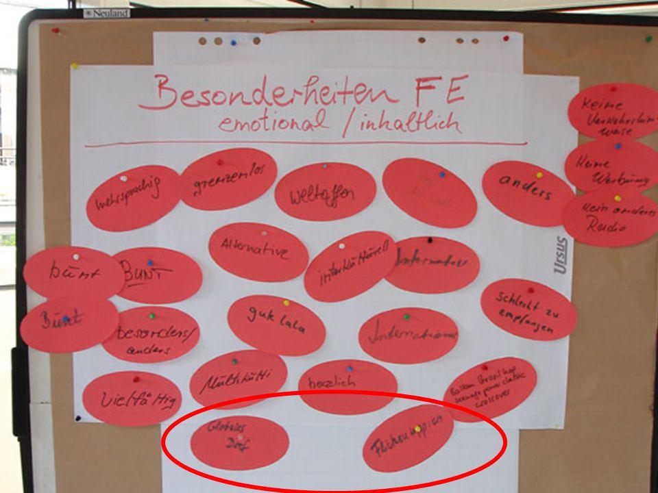 Rahmenbedingungen Besonderheiten Leitidee Aufgabe 8 strukturell / technisch: Sendungen aus Köln, Bremen, Berlin WDR 5 / Funkhaus Europa Redaktionssystem 2.