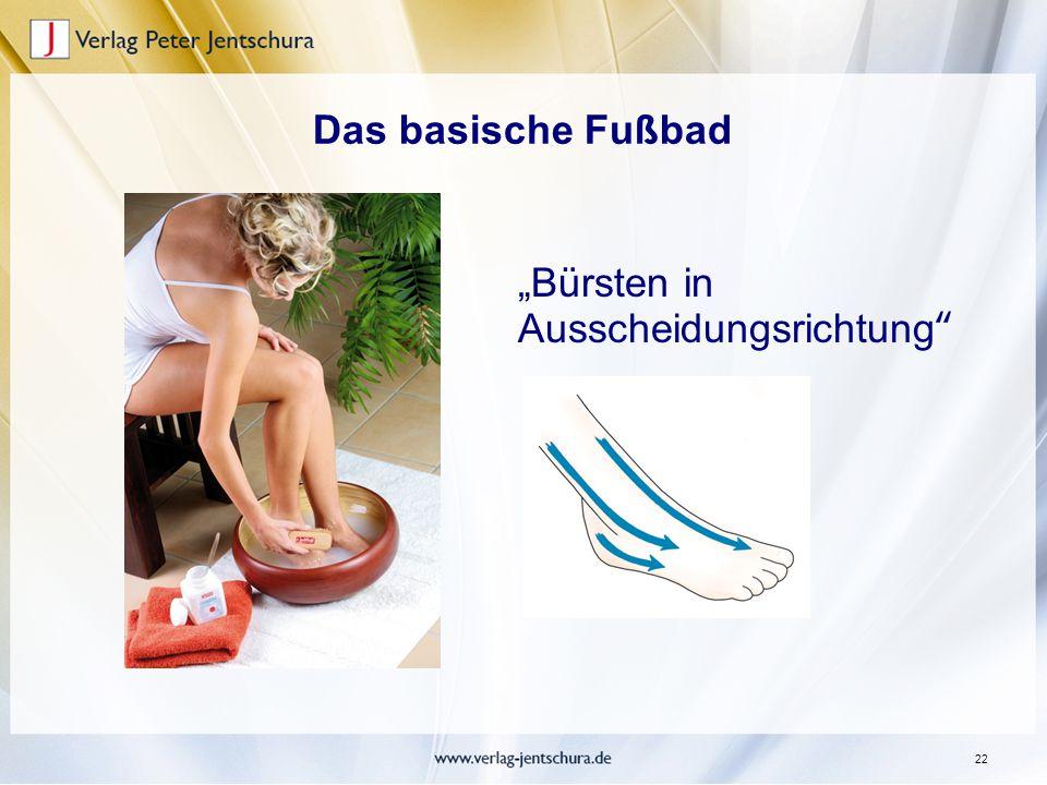 """22 Das basische Fußbad """"Bürsten in Ausscheidungsrichtung"""""""