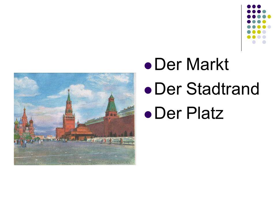 Der Markt Der Stadtrand Der Platz