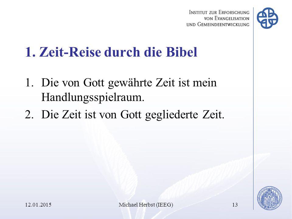 1. Zeit-Reise durch die Bibel 1.Die von Gott gewährte Zeit ist mein Handlungsspielraum.