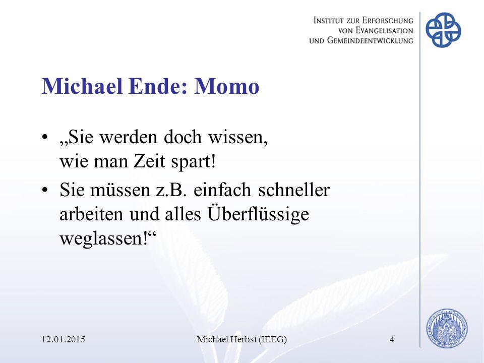 Eisenhower-Matrix/ Quadrant II-Methode 12.01.2015Michael Herbst (IEEG)65 Nicht wichtig Wichtig Nicht dringend Dringend I.