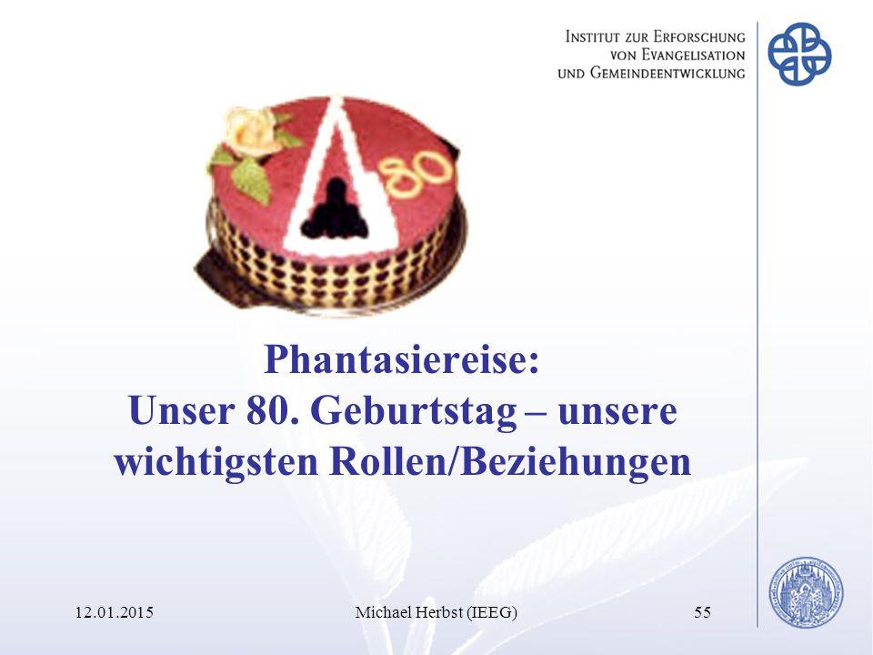 12.01.2015Michael Herbst (IEEG)55 Phantasiereise: Unser 80.