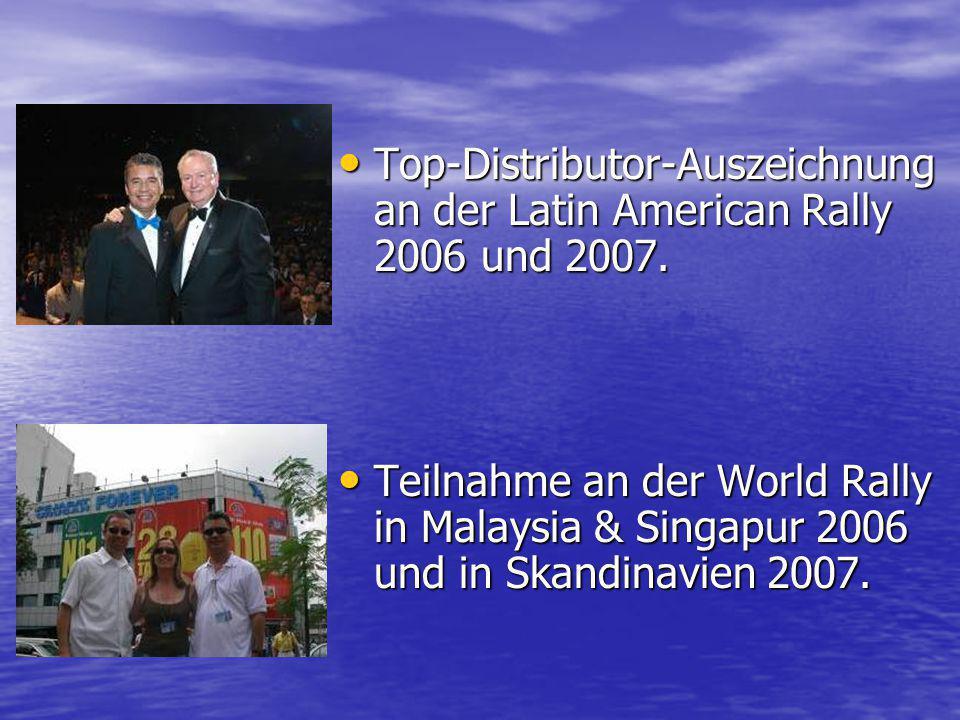 Top-Distributor-Auszeichnung an der Latin American Rally 2006 und 2007.