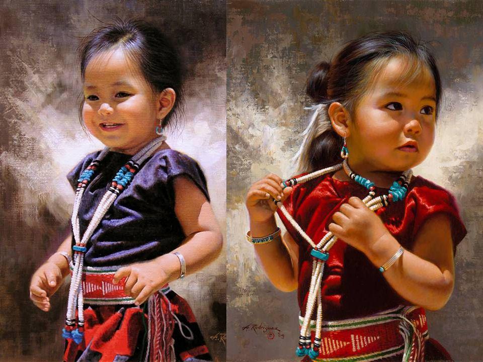 Die zehn Gebote der Indianer Alfredo RODRIGUEZ Peintre de talent né en 1954 à Mexico, vit maintenanten Californie