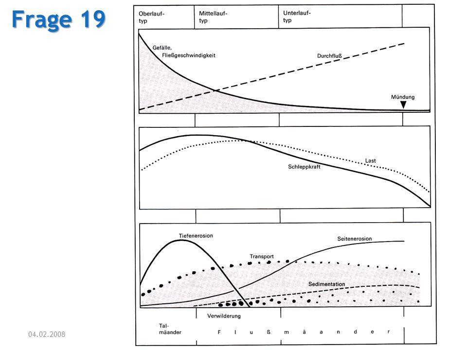 04.02.2008 Tutorium Physische Geographie 1 - Florian Vogler 29 Frage 19