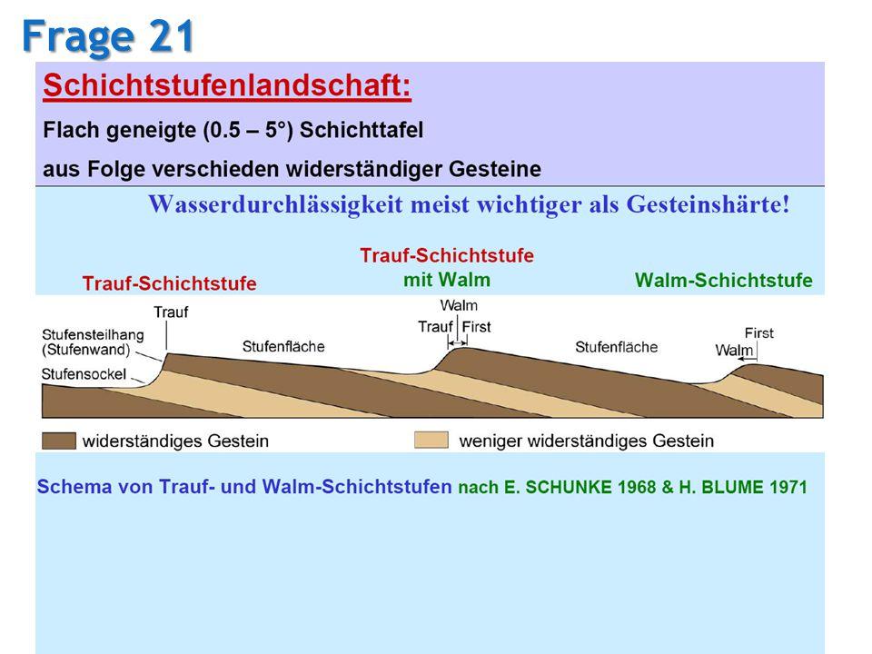 04.02.2008 Tutorium Physische Geographie 1 - Florian Vogler 31 Frage 21