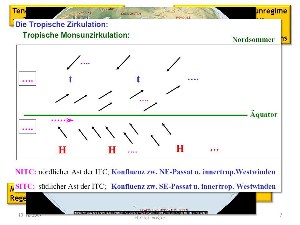 Was ist und wie entsteht der Monsun? Auf welchen Prozess geht der Tropical Easterly Jet (TEJ) zurück? 10.12.2007 Tutorium Physische Geographie 1 - Flo