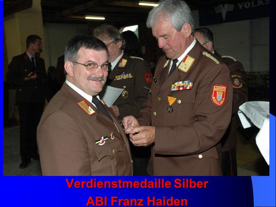 Verdienstmedaille Silber ABI Franz Haiden