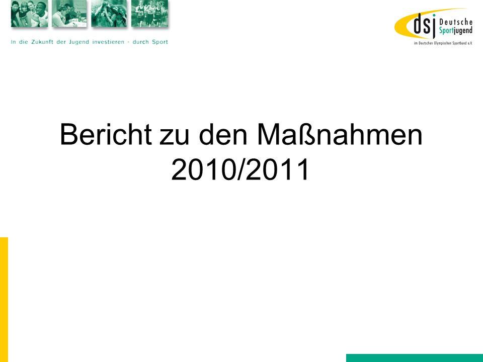 Bericht zu den Maßnahmen 2010/2011