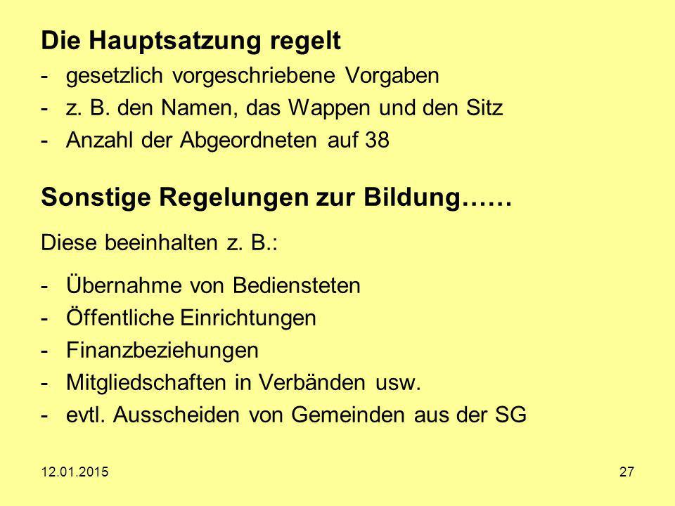 Finanzbeziehungen Herr Thomas Mensing 1. Rat der Samtgemeinde Gronau 12.01.201528