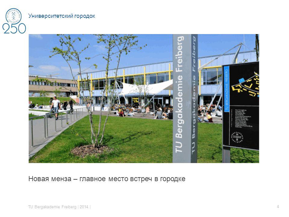 Новая менза – главное место встреч в городке TU Bergakademie Freiberg | 2014 | 4 Университетский городок