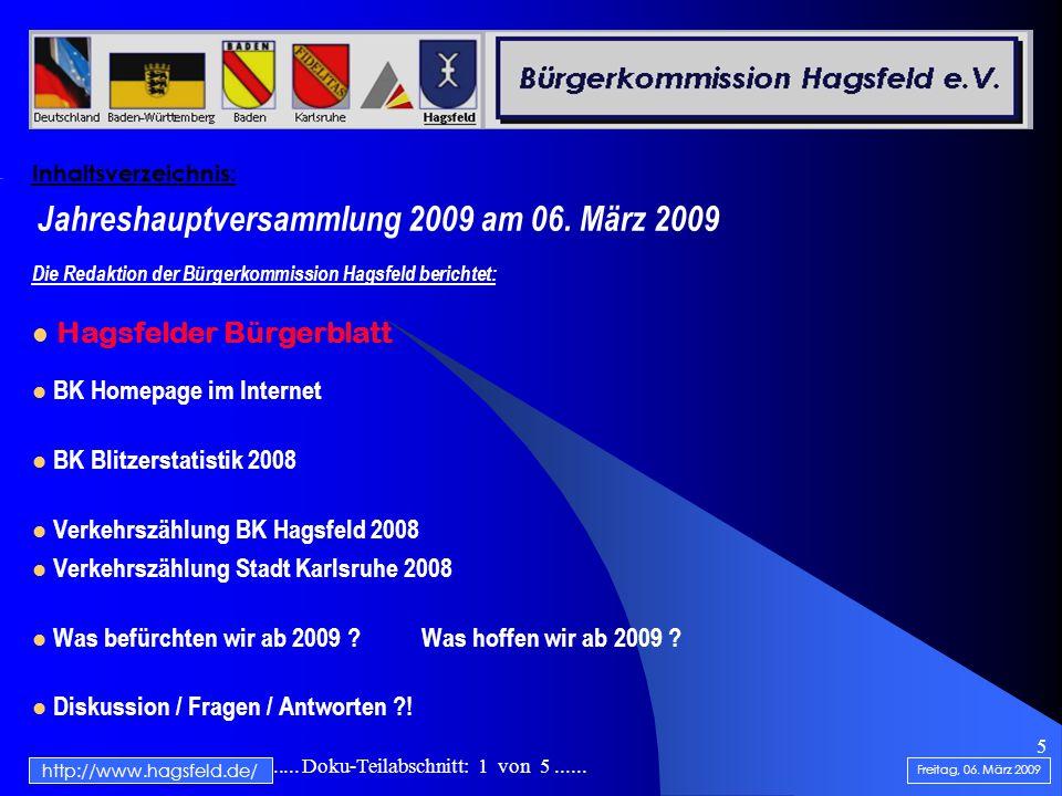 .......................... Doku-Teilabschnitt: 1 von 5...... 5 Inhaltsverzeichnis: Jahreshauptversammlung 2009 am 06. März 2009 Die Redaktion der Bürg