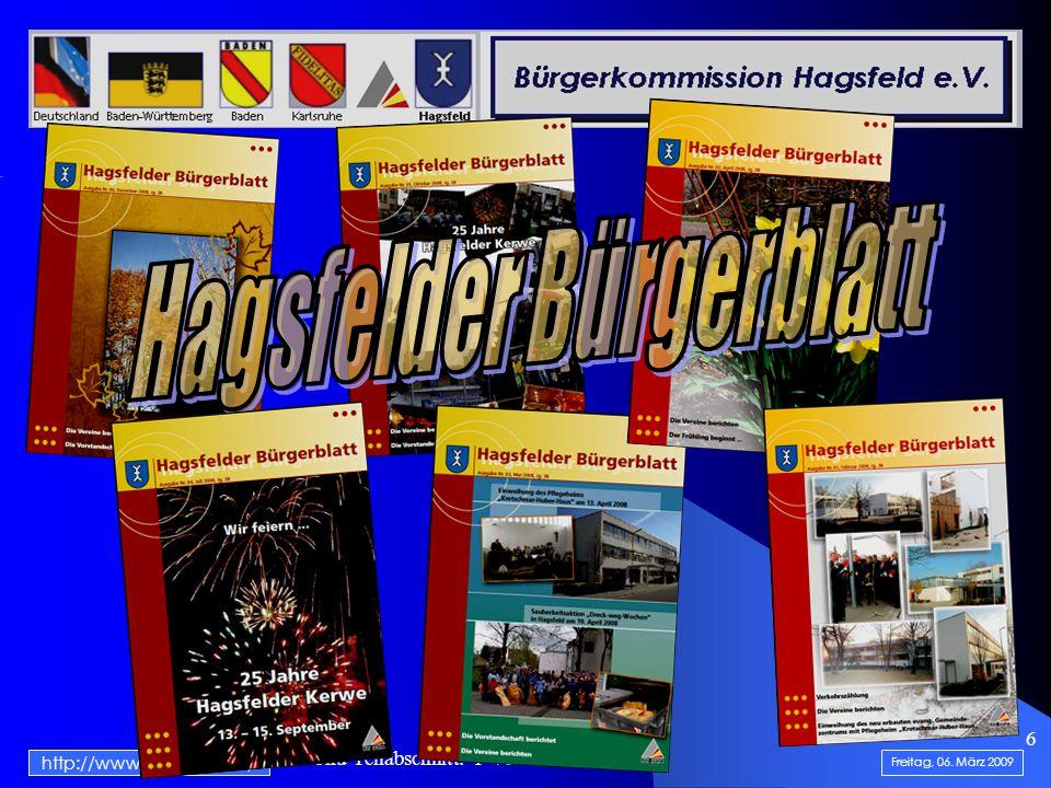 .......................... Doku-Teilabschnitt: 1 von 5...... 6 Freitag, 06. März 2009 http://www.hagsfeld.de/