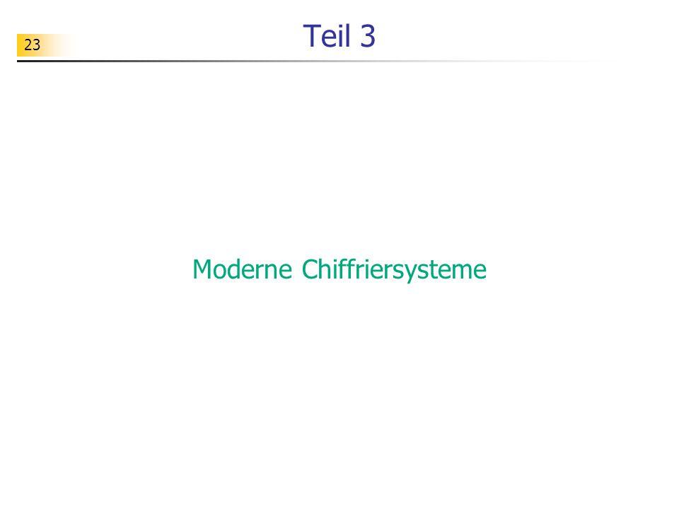 23 Teil 3 Moderne Chiffriersysteme