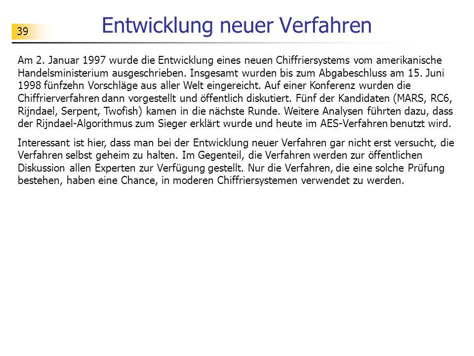 39 Entwicklung neuer Verfahren Am 2.