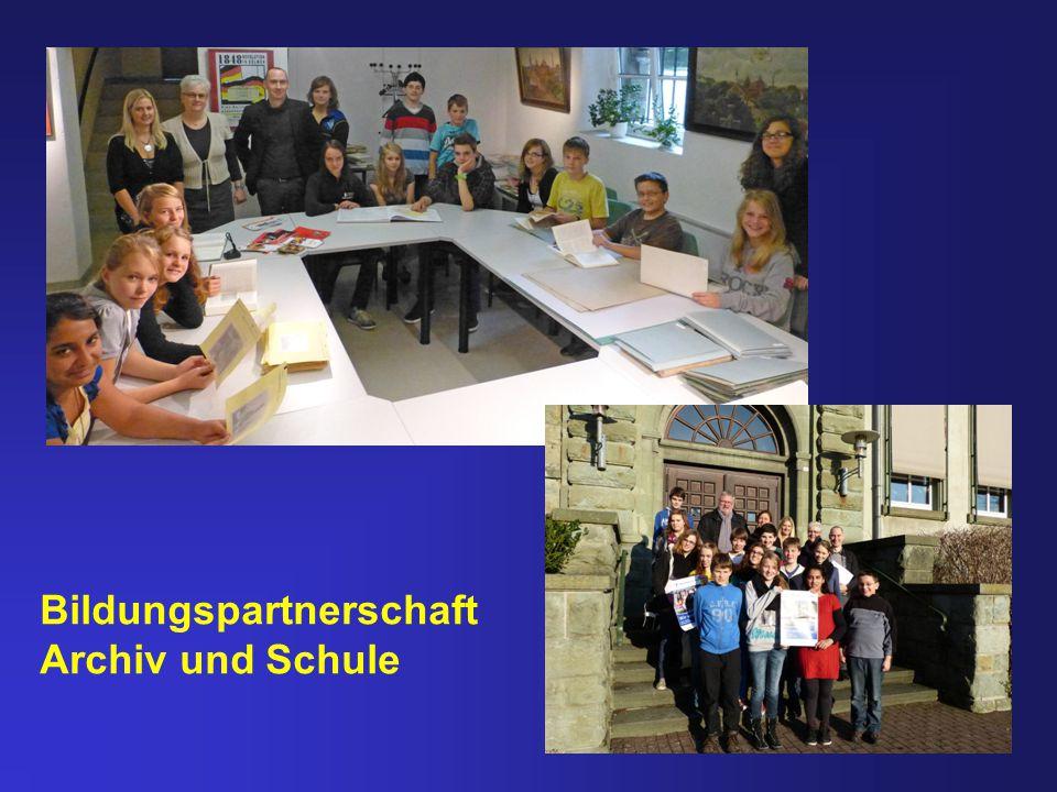 Bildungspartnerschaft Archiv und Schule