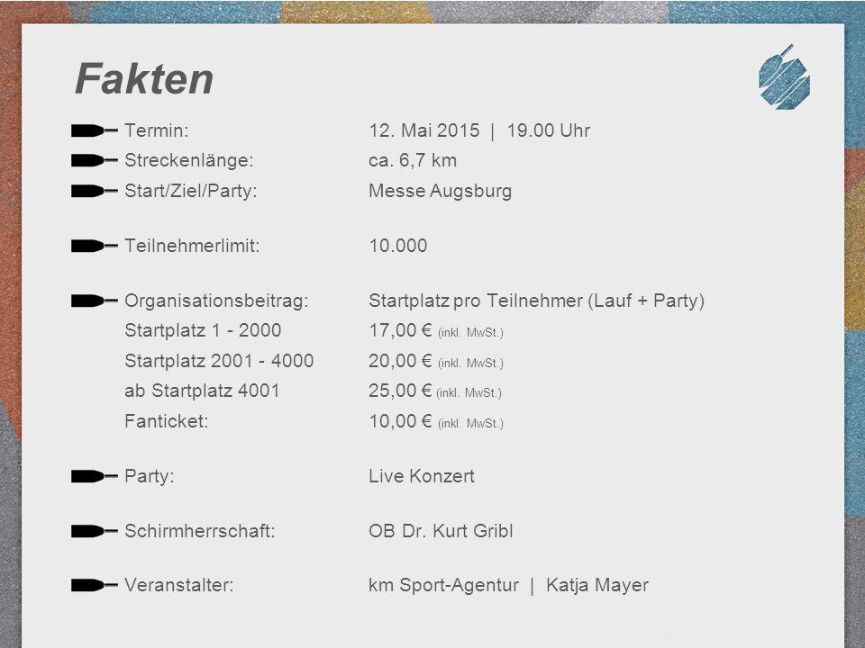 Fakten Termin: Streckenlänge: Start/Ziel/Party: Teilnehmerlimit: Organisationsbeitrag: Startplatz 1 - 2000 Startplatz 2001 - 4000 ab Startplatz 4001 F