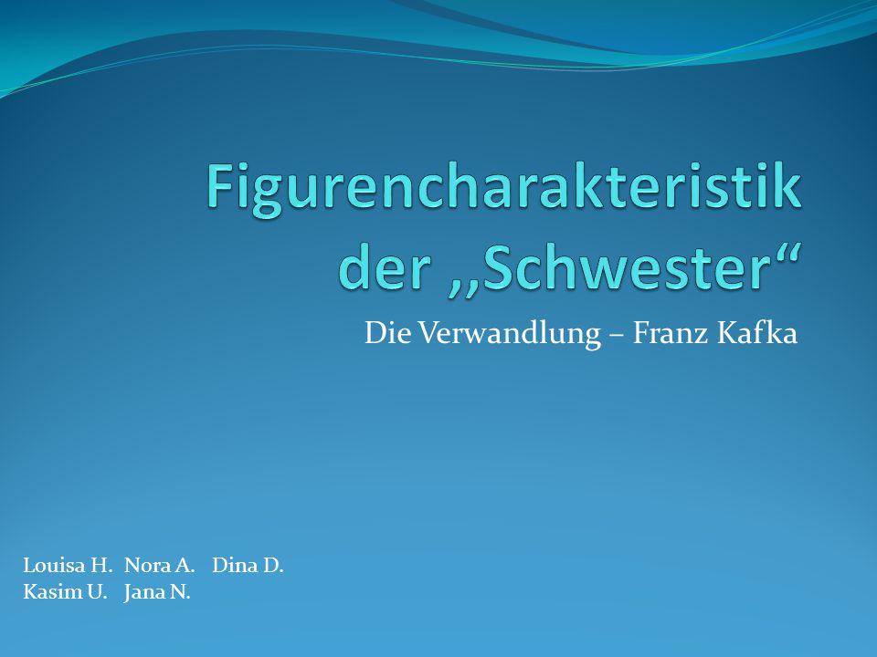 Die Verwandlung – Franz Kafka Louisa H. Nora A. Dina D. Kasim U. Jana N.