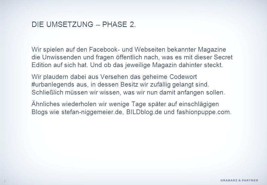 DIE UMSETZUNG – PHASE 2.