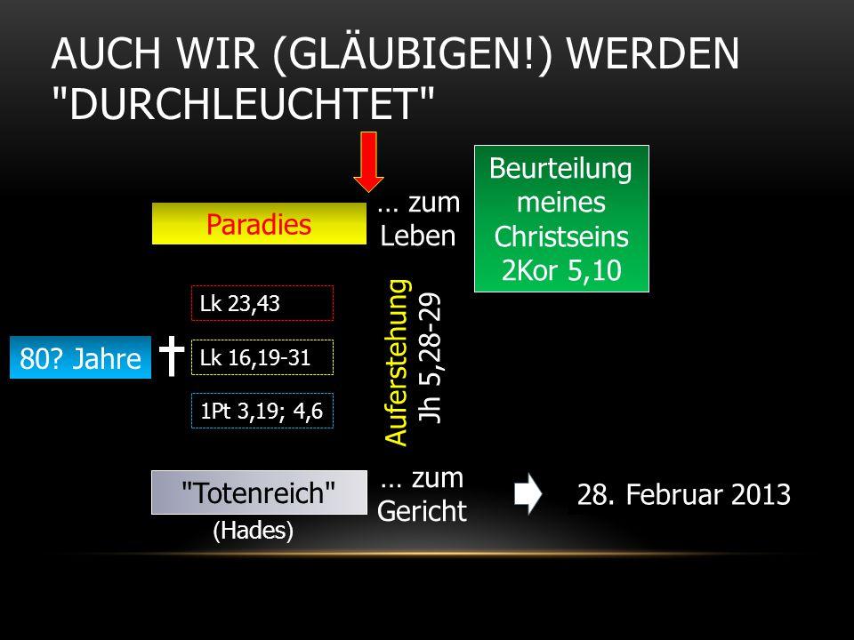 AUCH WIR (GLÄUBIGEN!) WERDEN DURCHLEUCHTET 80.