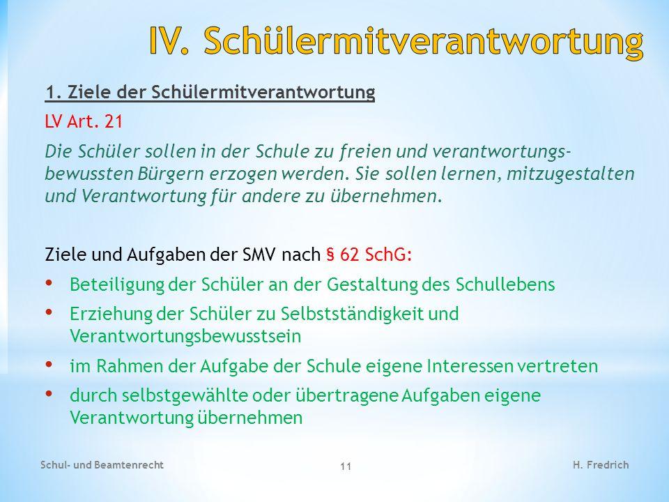 2.Organe der SMV / Ebenen Schul- und Beamtenrecht 12 H.