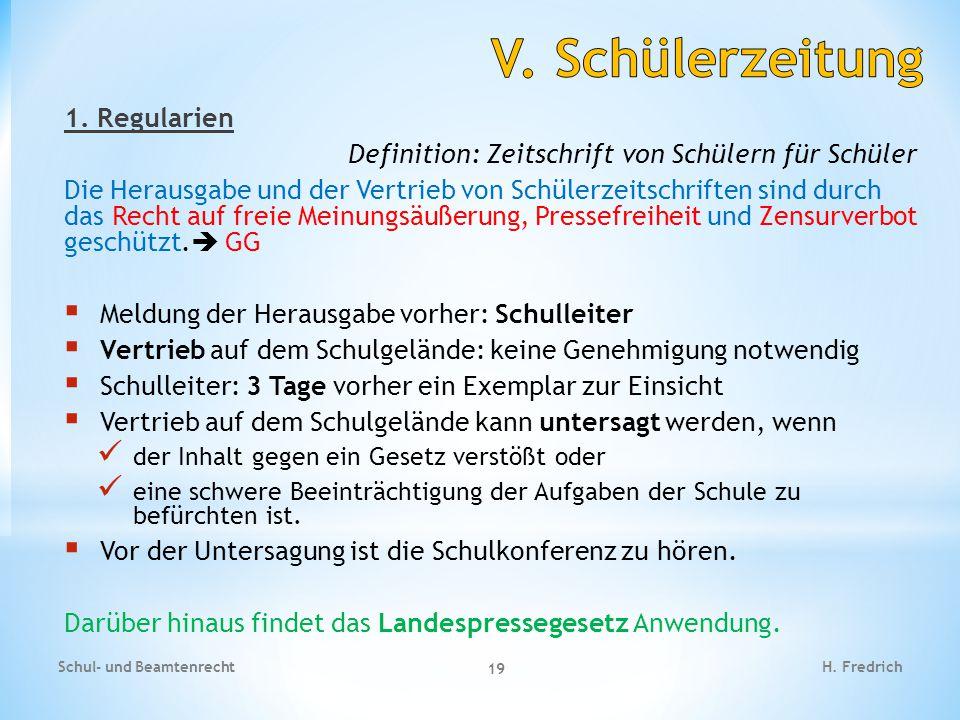 Fallbeispiel 1 Schul- und Beamtenrecht 20 H.